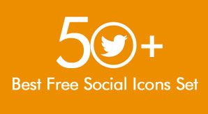 50  Best Free Social Media Icons Collection | PNG, PSD, HTML/CSS