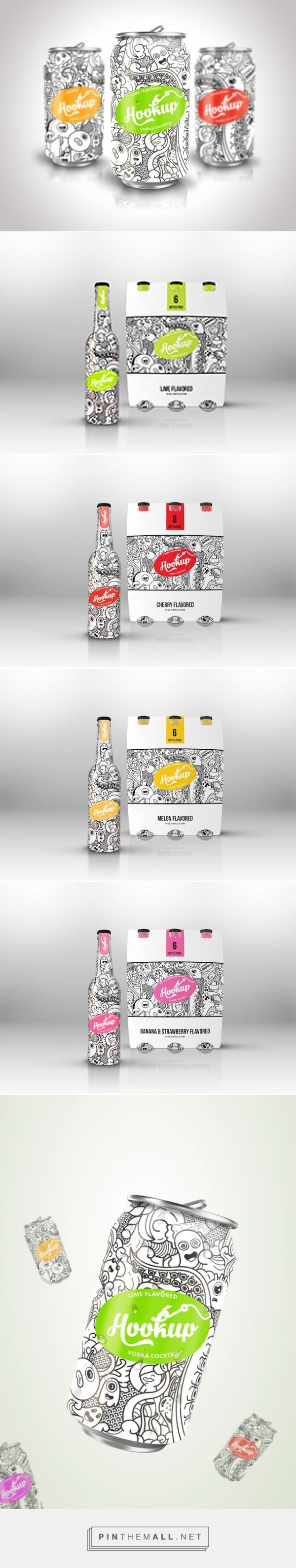 HookUp alcoholic cocktails by Brandid. Pin curated by #SFields99 #packaging #design