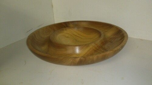 Spotted gum double bowl 270mm diameter.