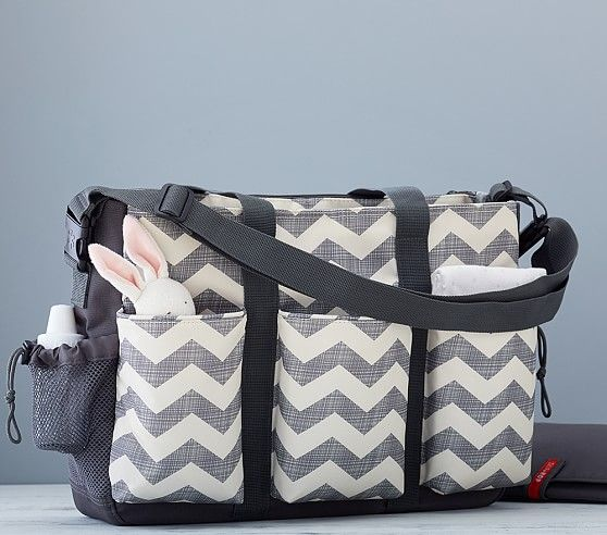 Chevron Skip Hop Double Duo Diaper Bag | Pottery Barn Kids