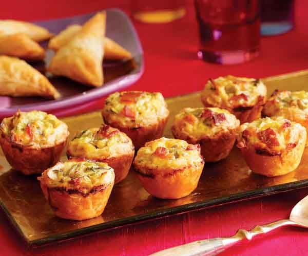 Bacon, Leek & Cheddar Mini Quiches | Recipe | Bacon, Egg yolks and ...