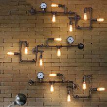 Промышленные трубы бра Американский loft ретро эдисон лампы личность балкон ресторан кафе клуб бар железный настенные светильники(China (Mainland))