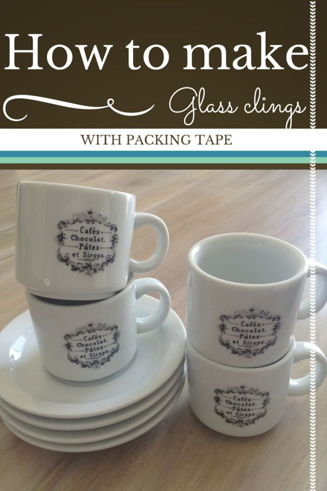 coffee cup craft ideas glass clings with packing image transfer to mug 3671
