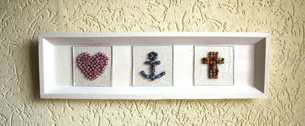 Glazen beelden - Hart Anker Kruis - Een uniek product van KCreative op DaWanda
