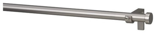 """Matte Nickel .75""""x120""""170"""" Curtain Rod Set - contemporary - curtain poles - Crate"""