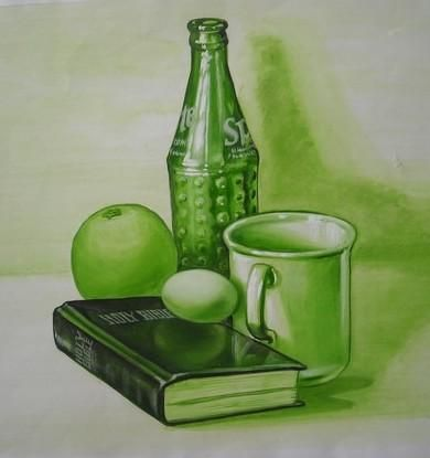 Example of using a limited palette within development - Still Life Painting