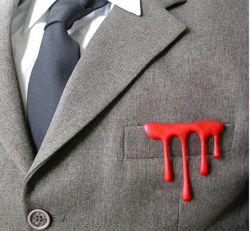 Dripping pocket square :)