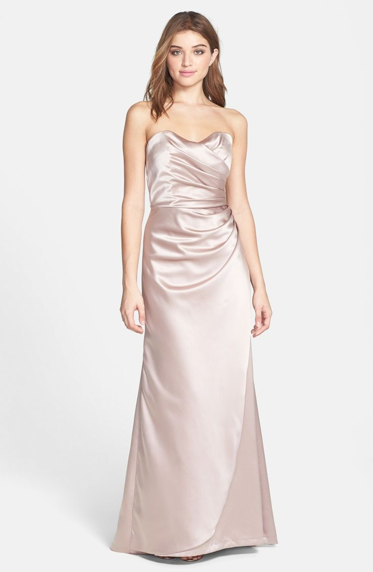 Dessy Collection Strapless Matte Satin Trumpet Dress available at #Nordstrom