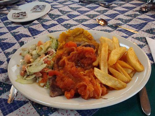 Beefsteak a la criolla in Yanuba