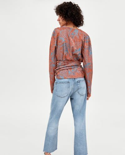 373166f4ad SHIMMERY TOP WITH BELT-View All-TOPS-WOMAN | ZARA Macedonia | Zara ...