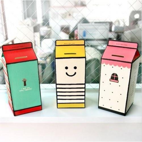 Alcancias de cajas de leche/jugo