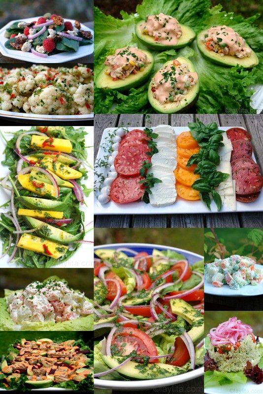 10 great summer salad recipes http://laylita.com/recipes/2012/06/12/summer-salad-recipes