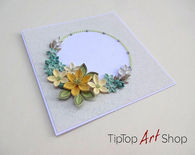 Paper Quilling Greeting Card With Handmade Flowers Mom Birthday Card Anniversary Card Mother S Day Card Handmade Flowers Paper Flower Cards Birthday Greetings For Mom