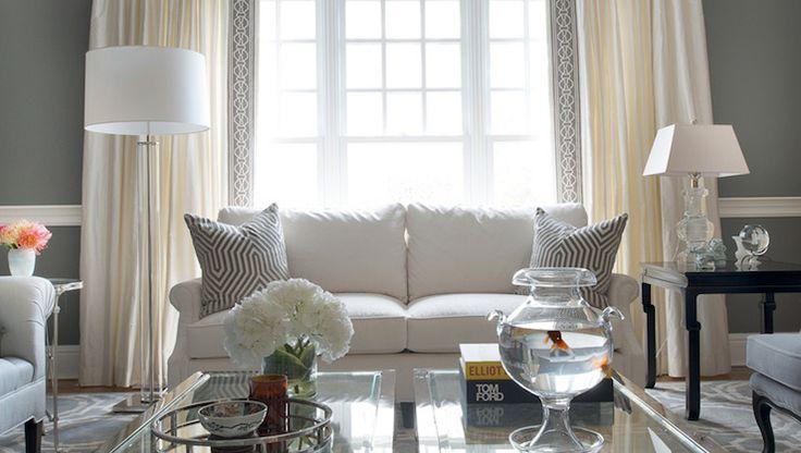 Transitional Gray Living Room