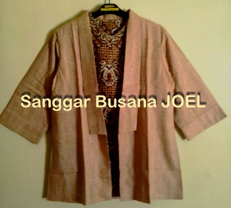 Semi Blazer Batik Embos Coklat (Variasi Inner Cokl...