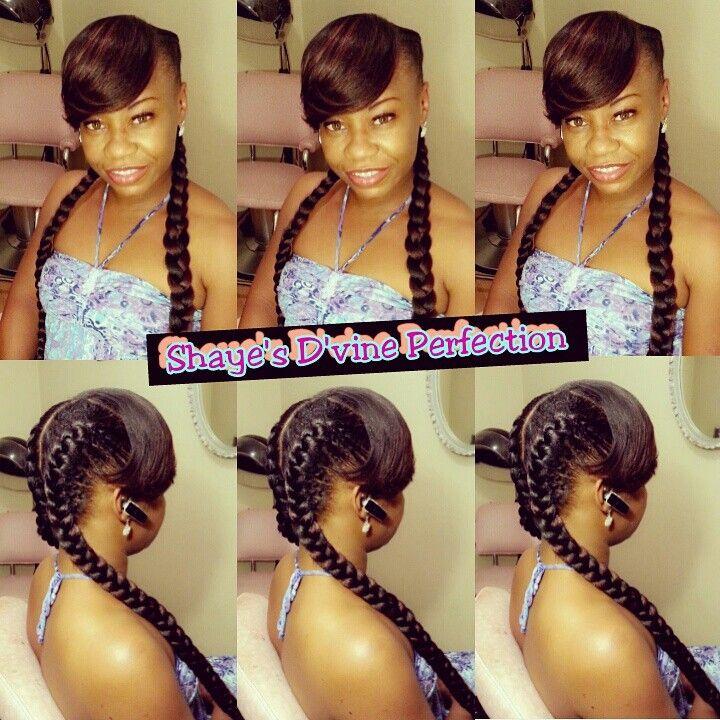 Goddess Braids With Bangs Shaye S D Vine Perfection Pinterest