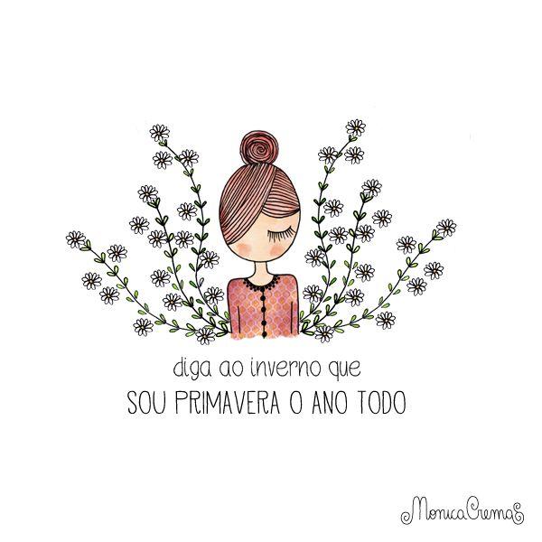 Ilustração da Mônica Crema <3