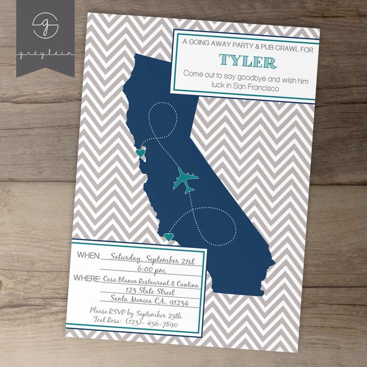 going away party invitations invites single state moving announcements diy printable - Going Away Party Invite