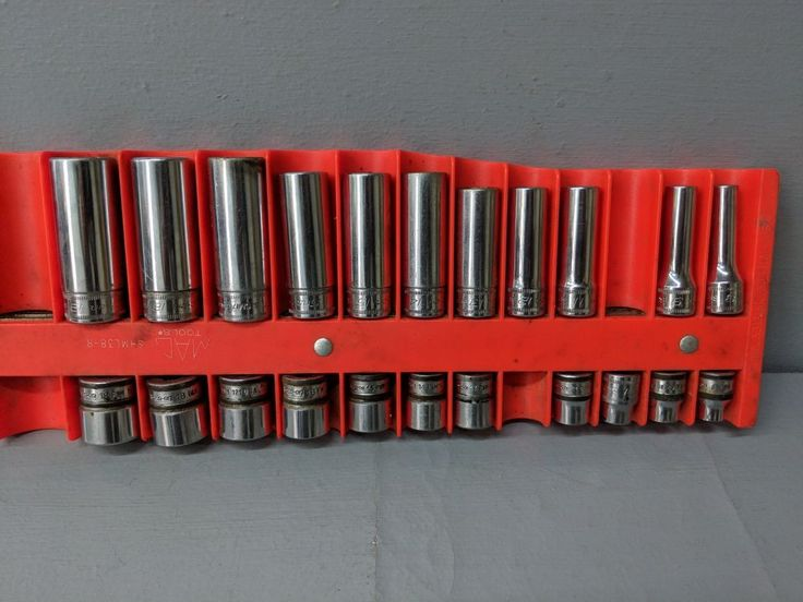Snap On 22 Piece 3/8 Drive Metric Socket Set ~ 6 & 12 Point ~ Deep & Shallow #Snapon