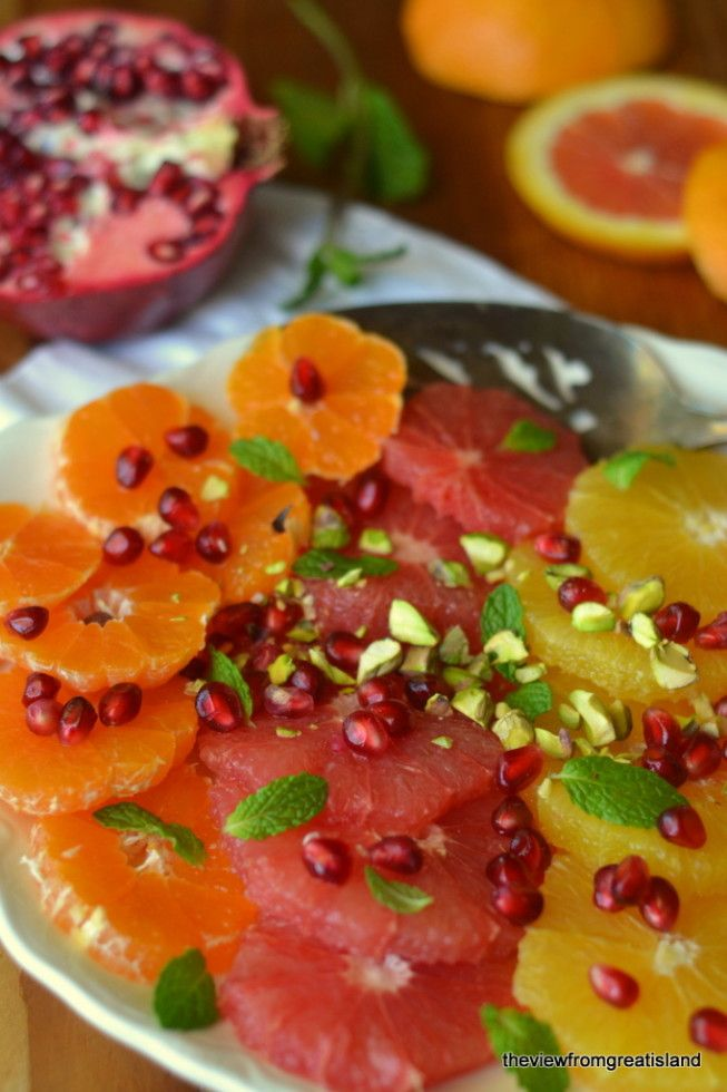 Citrus Salad with Pomegranate & Pistachio ~ as vibrant and beautiful as it is healthy.