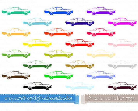 Car Clipart, Classic Nova Car Clip Art Vehicle Digital Stamp Vintage Car Graphic Image Auto Printable Design Commercial Use Instant Download