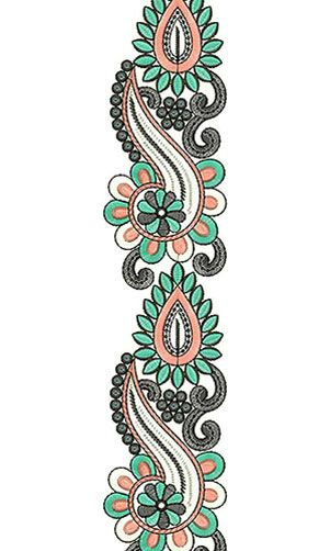 Gorgeous Ivory Lace Embroidery Design