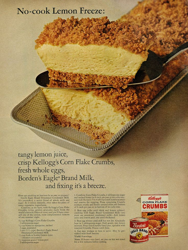 """No-cook Lemon Freeze Recipe from """"McCall's"""" 