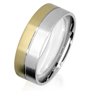 Want something a bit different without being too fancy? A men's two colour wedding ring could be just what you are looking for.   With two-toned wedding rings you can combine a range of different metals including yellow and white gold, palladium, platinum and titanium. You decide exactly how much of each colour you want, and what kind of finish. You can also add colour grooves, engraved words or numerals and even diamonds!