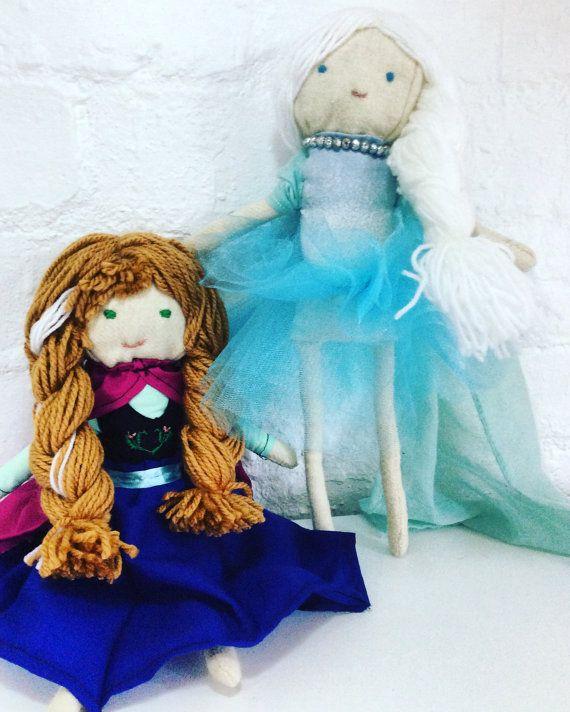Frozen Elsa and Anna Dolls by Poprikot on Etsy