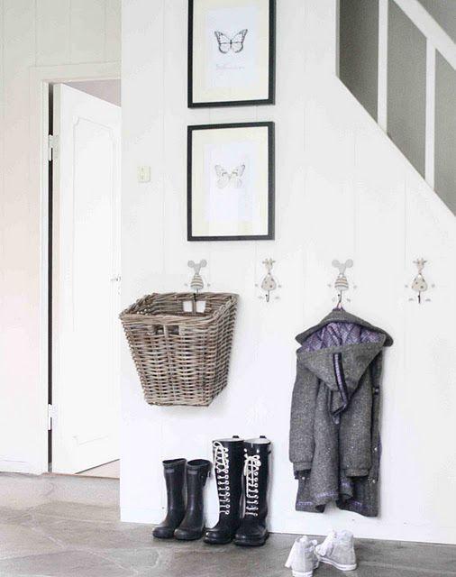 Hanging baskets.  Great idea for potato/onion storage.