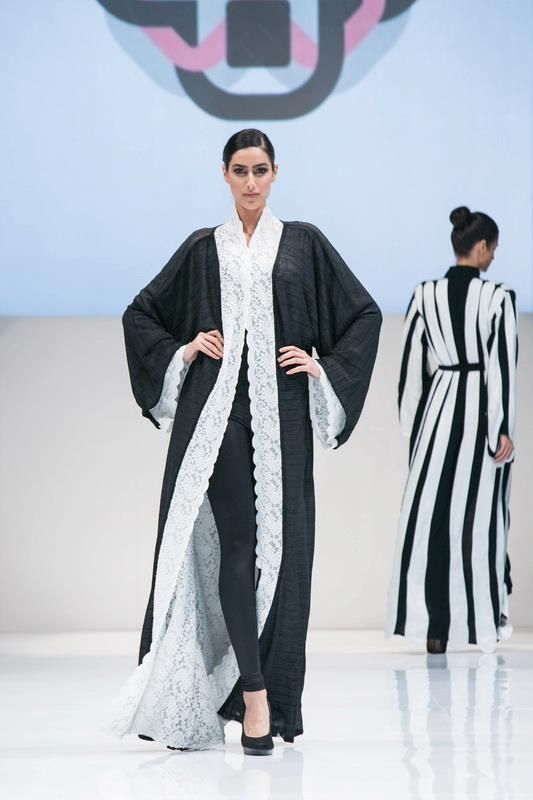 Who said #abayas are boring? One large, black piece of plain cloth is a thing of the past. Abayas now are very styled with several designs. Check these 2 elegant abayas in #DubaiFashionWeek
