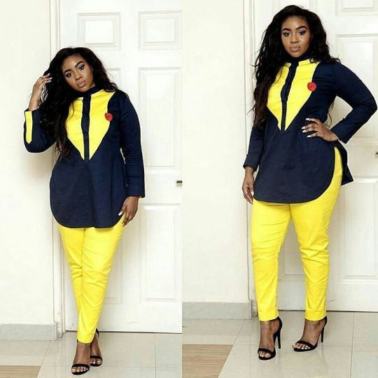 Online Hub For Fashion Beauty And Health: Lovely Pant And Blouse For Smart African Ladies