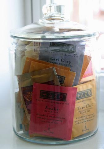 Does anyone know the source of this picture? Great way to organize tea bags! Mine are in a jar just like this now! :)