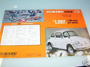 "SUBARU 360 ""and FAMILY!"" FULL-LINE BROCHURE, SPEC SHEET"