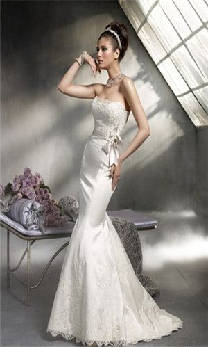 46 best Fishtail Wedding Dresses images on Pinterest ...