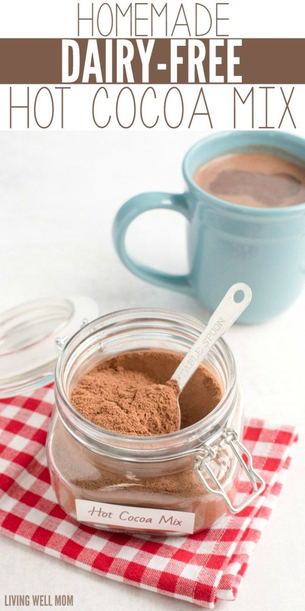 How To Make Dairy Free Hot Chocolate Mix Easy 3 Ingredients Vegan Recipe Dairy Free Hot Chocolate Homemade Hot Cocoa Hot Cocoa Mixes