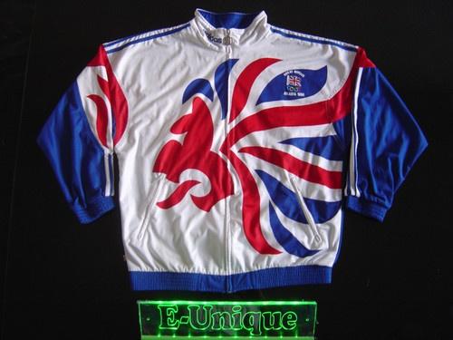VINTAGE ADIDAS TRAININGSJACKE TRACK JACKET ENGLAND 1996 ATLANTA OLYMPIADE M VTG.
