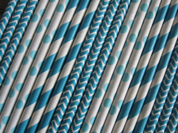 25 or 50 Peacock Straws by DKDeleKtables on Etsy