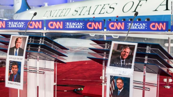 Preparation for the CNN Republican Candidate Debate at the Reagan Presidential Library on September 14, 2015. Jake Tapper will be the moderator for the CNN Republican Presidential Candidate Debate from the Library on the 17th.