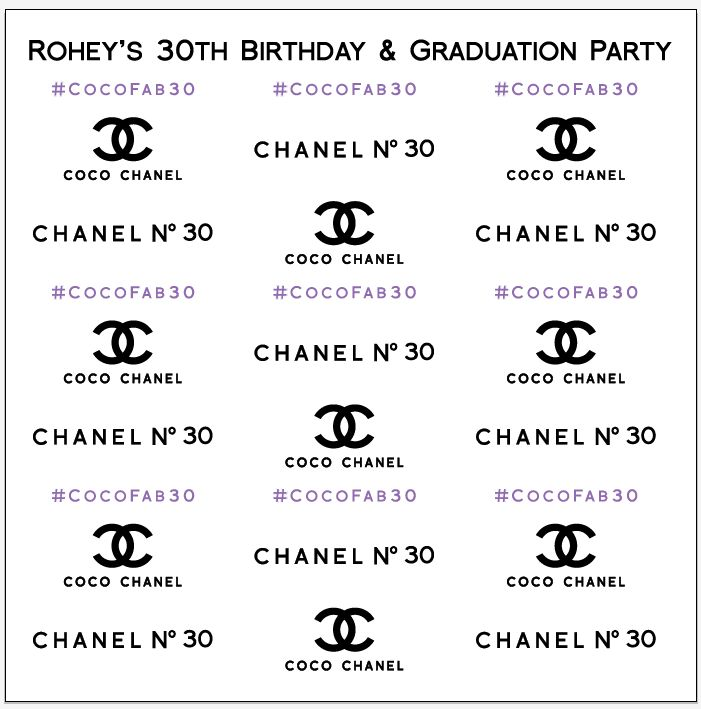 Chanel No 30 Step Amp Repeat Banner 7046 Www Sign11 Com