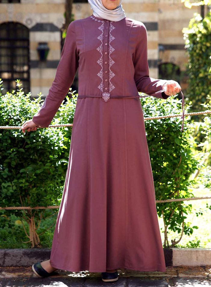 SHUKR USA | Embroidered Hera Abaya