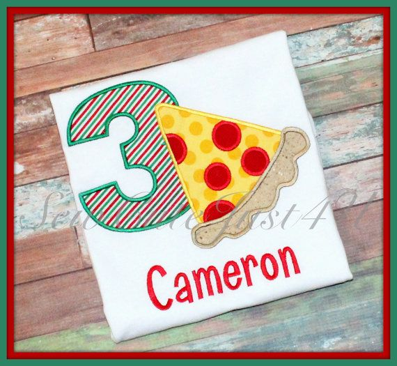 Pizza Party Themed Birthday Personalized Number by SewCuteJust4U, $19.50