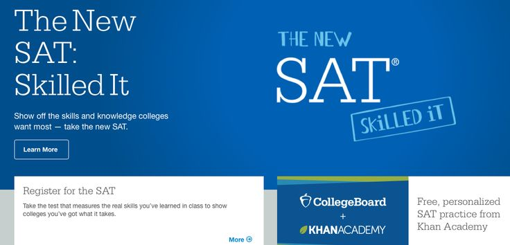 The New SAT - March 2016 #collegeplanning #highschool #skills #collegereadiness     • All-new essay — and it's optional     • No penalty for guessing     •No vocab that you'll never use again . brush up on your skills with FREE, personalized #SATpractice from #KhanAcademy ®. Seriously, it's free and it's official.  4 #collegeapplication fee waivers for every student who uses an SAT fee waiver .   https://collegereadiness.collegeboard.org/  #highschoolresources #SATstudyguide