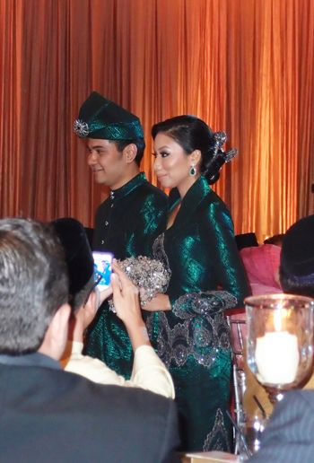 Zaireen Azman's gorgeous songket wedding dress by Rizalman
