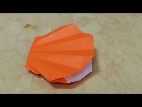 551  쉬운 종이접기 (조개) Clam Easy  Origami  쉬운 색종이접기  摺紙 折纸 оригами 折り紙  اوريغامي - YouTube