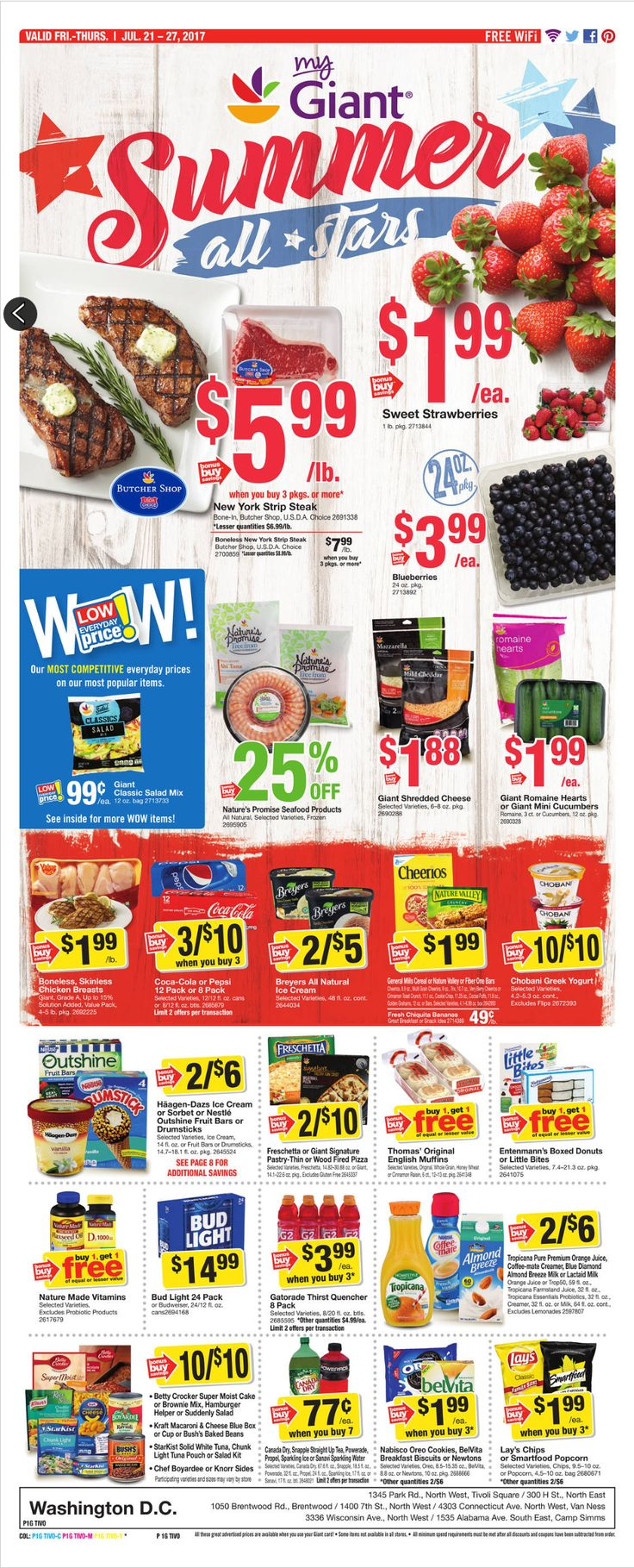 Giant Food Weekly Ad July 21 - 27, 2017 - http://www.olcatalog.com/grocery/giant-food-weekly-ad.html