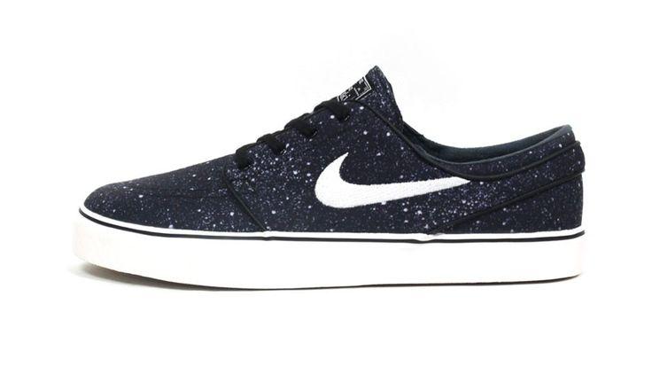 Nike Zoom Stefan Janoski Premium Skate schoenen Zwart Wit Stijl Code: 375361-012