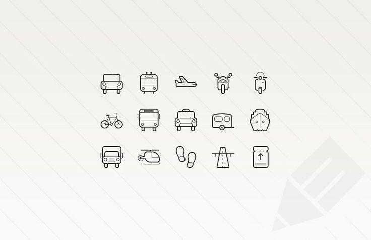 12 packs d'icons gratuits à télécharger autour du voyage et des transports   BlogDuWebdesign
