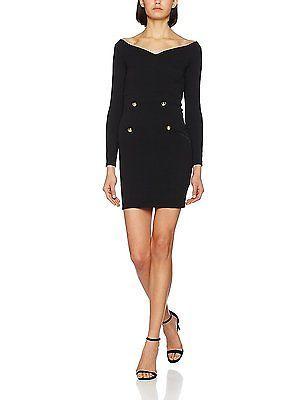 12, Black, MISS SELFRIDGE Women's Button Front Dress NEW