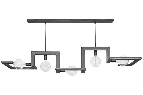 Hanglamp Tortona zwart/staal met koperen lassen als je een mooie bijzondere hanglamp zoekt